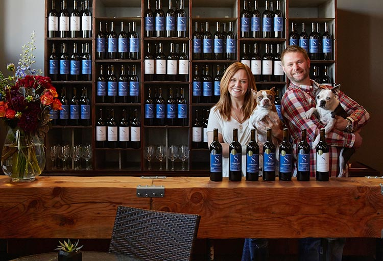 Brandee Slosar and Brian Grasso of Structure Cellars in Seattle