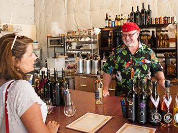 Gary Gougér's eponymous tasting room is housed inside a former fire station