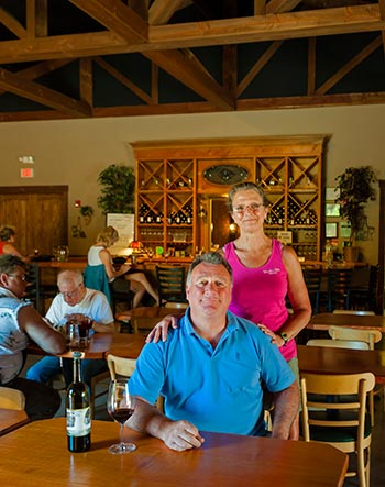 Joe and Susan Millea of Moulton Falls Winery