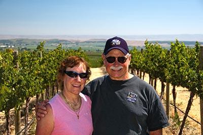 DuBrul Vineyard owners Hugh and Kathy Shiels