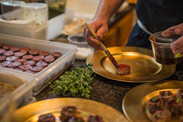 Chef Josh Dorcak of Ashland Public House gastropub preps food pairings for AIFF Talking Tempranillo fundraiser.