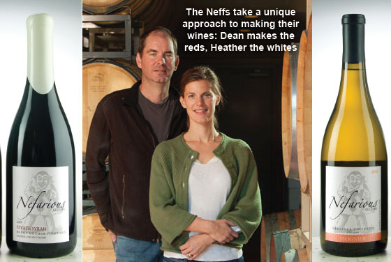 Pictured: Nefarious Cellars is a family winery on Lake Chelan run by winemakers Dean and Heather Neff. Patrick Bennett photo.