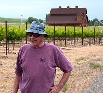 Jim Holmes of Ciel du Cheval Vineyard, one of Red Mountain's founding fathers who, along with John Williams of Kiona, were the first to grow grapes in the AVA. Photo by Tasting Room Magazine/John Vitale