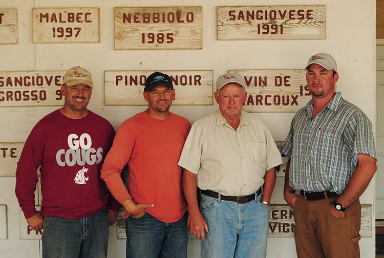 Left to right: Red Willow is farmed by Mike Sauer and his two sons, Jon and Dan, and son-in-law Rick Willsey