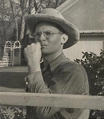 A young Walter Clore at his Prosser homestead in 1937, who was then working full-time at the local research station